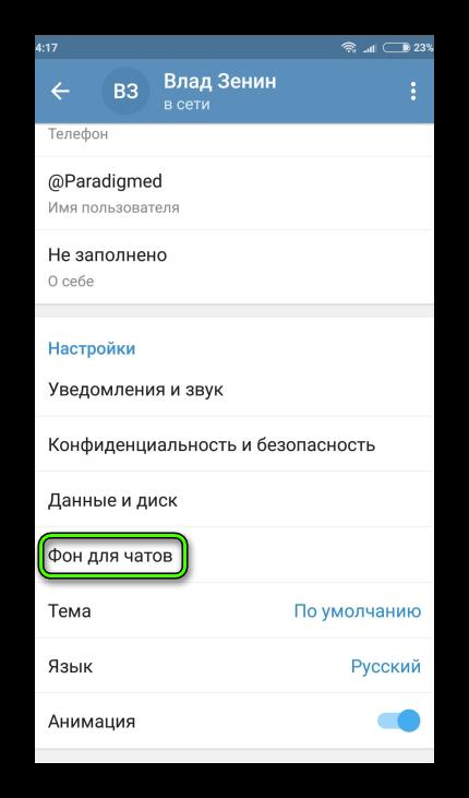 Фон для чатов Telegram