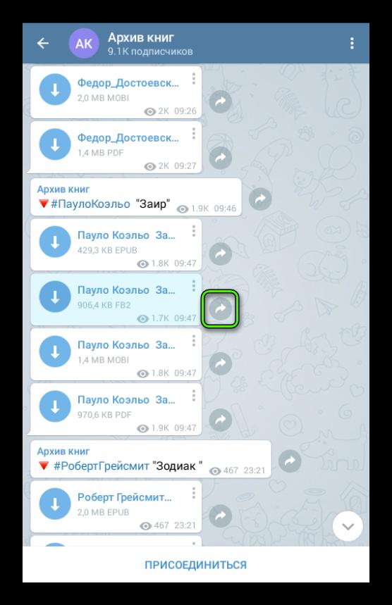 Поделиться книгой в Telegram