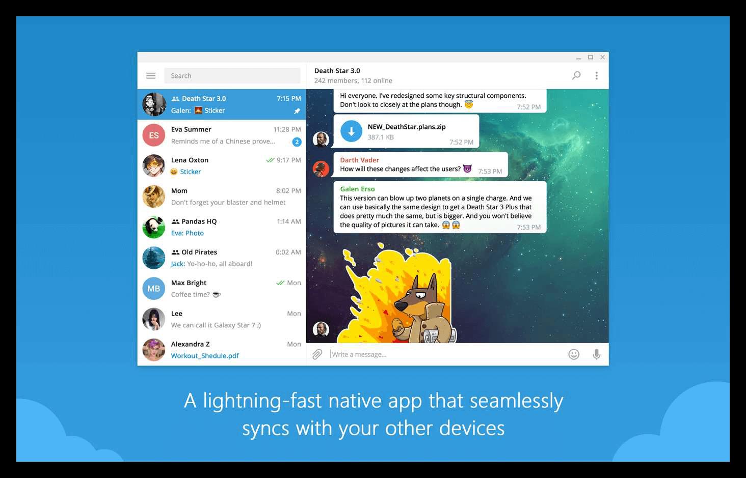 Telegram на Windows 10