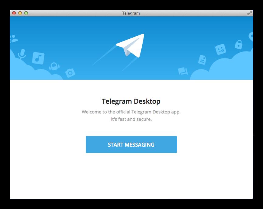 Вид Telegram на Mac OS